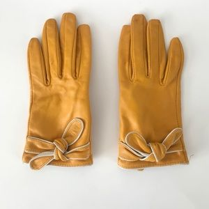Target Merona Marigold Leather Gloves with Knot